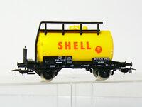 Piko 5/6408/027 (?) H0 Kesselwagen SHELL der DB mit Bremserbühne, gelb, wie neu