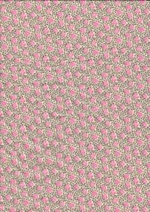 Vintage Liberty Tana Lawn Cotton Fabric Tiny Pink Floral Grey Green Leaves