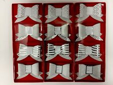 Christmas Gift Tags Bows With Glitter And Foil 12 Count (New)