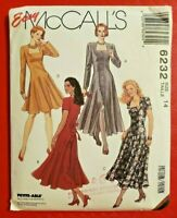 McCalls Pattern 6232 Misses' Dress in two lengths w/Princess seams Size 14 - New