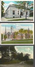 Lot of 3 Vintage Connecticut Cards WALLINGFORD+MERIDEN+Highland Park Drive
