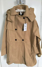 Ladies Zara Trench Coat With Pleat In Camel Size XL BNWT RRP£69.99