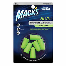 Mack's Soft Foam Shooting Earplugs - Mack's Shooters Hi Viz Ear Plugs - 3 Pairs