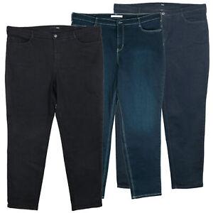 MAC Stina Stretchjeans Damen Feminine Fit Straight Blau Schwarz Größe 50 52 54