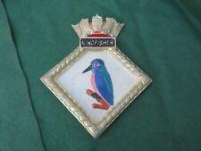 More details for ww 2 royal navy hms kingfisher (l 70) cast aluminium ships plaque