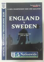 ENGLAND V SWEDEN - 5TH JUNE 1999 FOOTBALL PROGRAMME