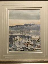 "Vintage Framed Original Watercolor Joseph Kehoe ""1941"" Ketchikan Alaska"