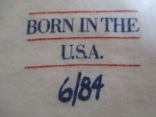 "Rare 1984 BRUCE SPRINGSTEEN ""Born in the USA"" RECORD RELEASE 6/84 (SM) T-Shirt"