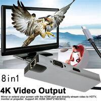 Type C to 4K HDMI VGA 1000Mbps Gigabit Ethernet LAN RJ45 Card USB 3.0 HUB SD TF