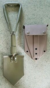 CURRENT BRITISH ARMY ISSUED FOLDING ENTRENCHING TOOL & CASE