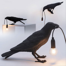 Seletti Bird Table Lamps Resin Crow Desk Lamp Bedroom Wall Sconce Light Fixtures