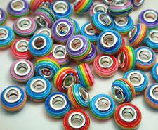 50pcs mix murano DIY Jewelry bead fit European Bracelet charm beads wholesale m7