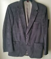 Vintage Men Wm F. Farah Gray Textured 40R Sport Blazer Coat Jacket - Fall Blazer
