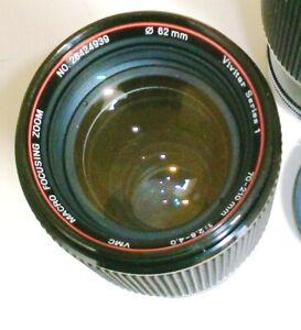 VIVITAR Series 1 Canon FD 70~210mm f/2.8~ 4 Macro Zoom Lens Excellent A-1 AE-1