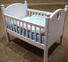Baby Doll Crib with Quilt, Mattress and Bumper-American Girl Biddy Baby-Retired!