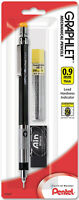 Pentel Graphlet Mechanical Pencil 0.9mm Black Hi-Polymer Eraser 12 Leads 4mm Tip