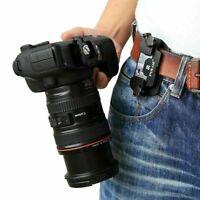Alloy Quick Release Camera Waist Belt Strap Mount Clip Cam B8X7 DSLR Q6Y1 M2N1
