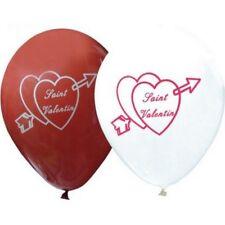 10 ballons de Saint-Valentin rouge / blanc