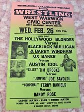 "Authentic Vintage ICW Wrestling West Warwick Civic Center RI 22"" Event Poster"