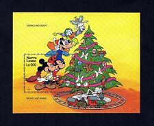 Sierra Leone - 1992 - Disney - Christmas - Mickey - Minnie - Train + Mint S/S!