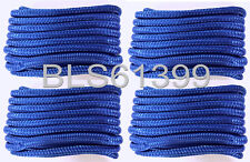 "(4) BLUE Boat Dock Lines 3/8"" Double Braid Marine Rope (2) Each 15' & 20' feet"