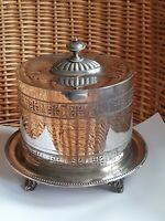 Victorian Silver Plated Pierced Biscuit Box By James Dixon & Sons EPBM