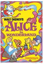 Alice in Wonderland 1951 Disney cartoon movie poster print #47