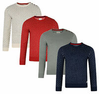 Lee Cooper New Mens Crew Neck Jumper Nordic Casual Acrylic Knit Sweater Pullover