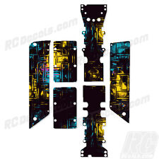 Traxxas E-Maxx - Chassis Plate + Skid Protector Decals - Blocks - TRA3922A
