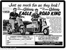 1958 Cushman Eagle & Road King  Motor Scooter Ad Refrigerator / Tool Box Magnet