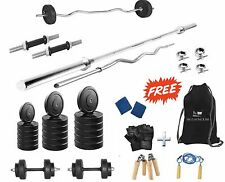 Protoner  52 Kgs + 4 Rods Weight Lifting Home Gym Fitness Package