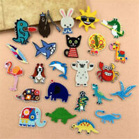 24Pcs/Lot Random Patches Girls Kids Iron On For Clothing Applique Sticker DIY