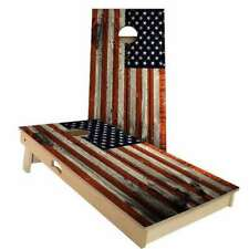 American Flag Distressed Cornhole Boards - 2 Sizes + Many Options Available
