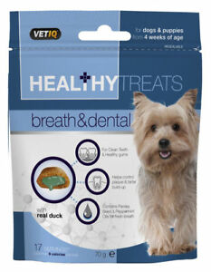 VetIQ Healthy Treats Breath & Dental 70g - Mark & Chappell Dog & Puppy Snack