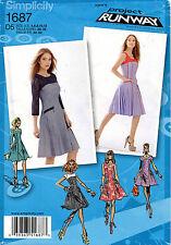 Simplicity Misses' Petite Dress Pattern 1687 Size 4-12 UNCUT