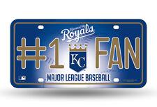 KANSAS CITY ROYALS  #1 FAN CAR TRUCK TAG LICENSE PLATE MLB BASEBALL METAL SIGN