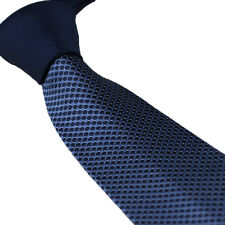 Coachella Ties Dark Blue Knot Contrast Blue Polka Dot Necktie Men's Formal Tie