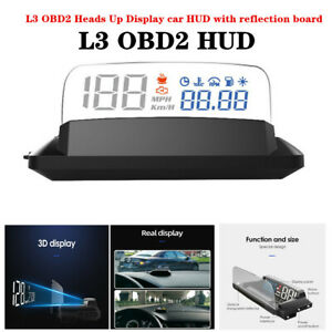 L3 OBD2 Heads Up Display Universal Car HUD with Reflection Board Daytime&Night