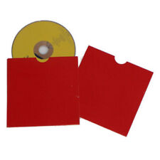 Red Card CD/DVD Sleeves x 50 Thumb Cut Disc Protector Mail Storage Colour Sleeve