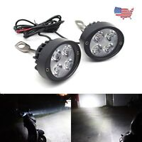 Motorcycle Headlight Spot Fog Lights Head Front Work 4 LED 12V Motorbike US