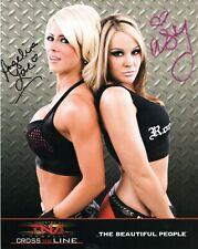 VELVET SKY ANGELINA LOVE '08 TNA HAND SIGNED AUTOGRAPH ORIGINAL 10x8 PROMO PHOTO