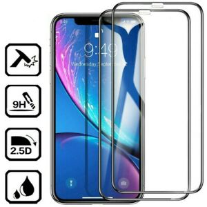 For iPhone 6-11 Pro Max Full Coverage Tempered Glass Screen Protector Chic Gifts
