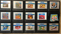 Atari 5200 Games Cartridge Lot- Tested & Working- Discounts For Multiples