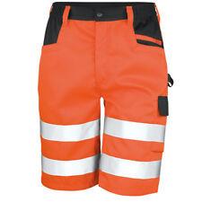 Result Safe-Guard Safety Cargo Shorts Hi Vis Work Wear Multi Pocket (R328X)