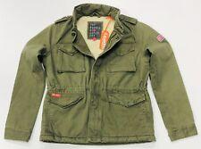 BNWT Superdry Women' Winter Rookie Military Jacket In Dark Khaki Size M
