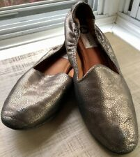 Lanvin Gold and Black Metallic Pebbled Loafer Style Flats US 10 EU 41