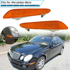 Pair Side Marker in Bumper LED Turn Signal Lights for Mercedes-Benz W211 E-Class