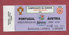 Orig.Ticket    EM Qualifikation  13.11.1994  PORTUGAL - ÖSTERREICH  !!  SELTEN