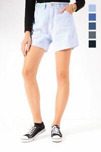 Grade A Lee Vintage Femmes Taille Haute Taille Élastique Coupé Short Jeans