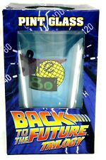 Back to the Future 80's Cafe BTTF Trilogy Pint Glass Diamond Select NEW